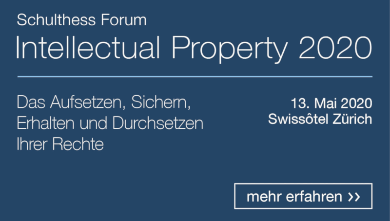 Schulthess Forum Intellectual Property 2020